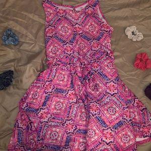 Pink and purple girls dress